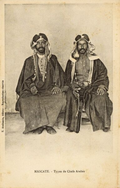 Muscat, Oman - Two Arab Chieftains Date: circa 1910s