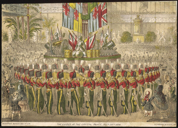 About the time of the outbreak of the Crimea War, a military band performs in the Crystal Palace, Sydenham, before a large and patriotic crowd