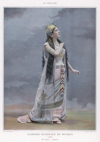 AIDA Mlle Soyer as Amneris in a production at the Academie Nationale de Musique, Paris