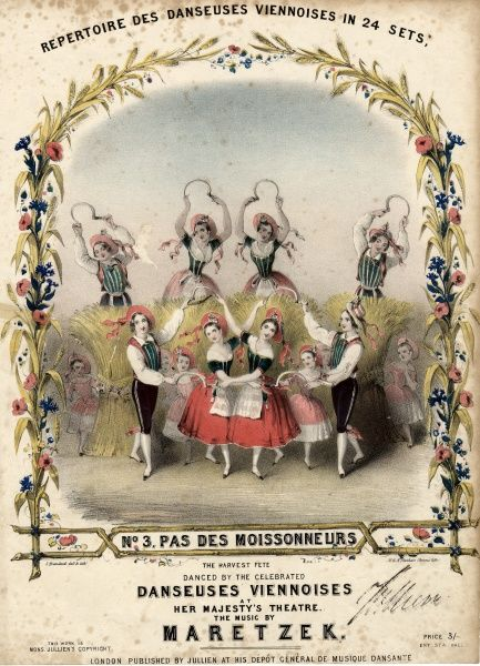 Music sheet cover for the Danseuses Viennoises (Viennese Dancers), No