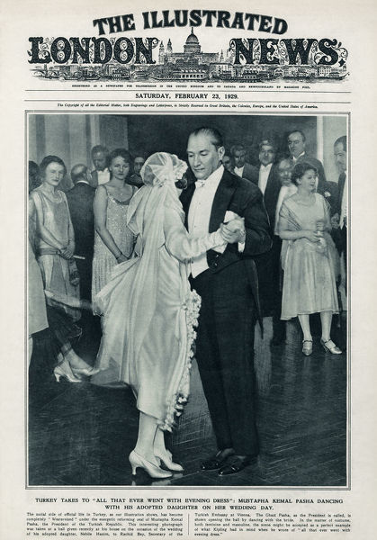 Mustafa Kemal Ataturk dancing with his adopted daughter #19742447
