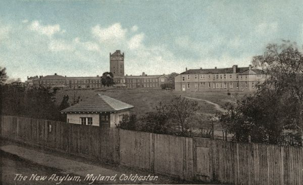 Myland Asylum, Colchester, also known as the Second Essex County Asylum and Severalls Mental Hospital, opened in 1913