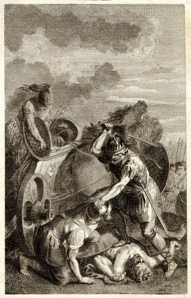 Agamemnon slaying the two sons of Antenor