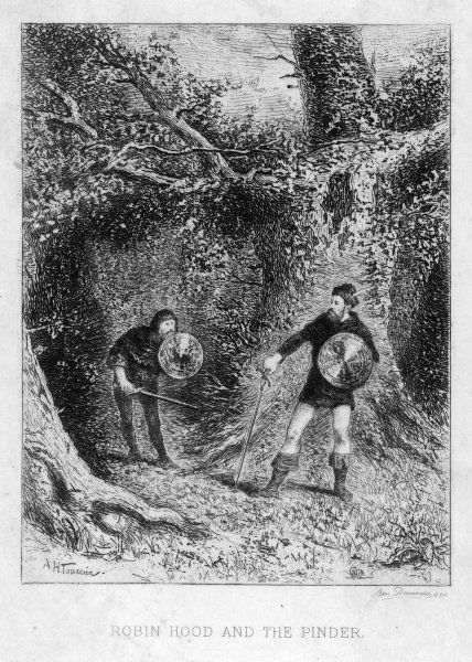 ROBIN HOOD'S ENCOUNTER WITH THE PINDER OF WAKEFIELD (A pinder was an officer of the manor who impounded stray beasts)