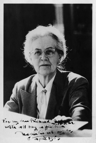 NADIA-JULIETTE BOULANGER (1887-1979), French music teacher and conductor. Her students included Aaron Copland, Roy Harris, Lennox Berkeley, Virgil Thomson and Leonard Bernstein. Date: early 1960s