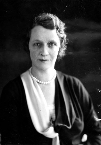 Photographic portrait of Viscountess Nancy Astor (1879-1964), the British politician, pictured c.1920