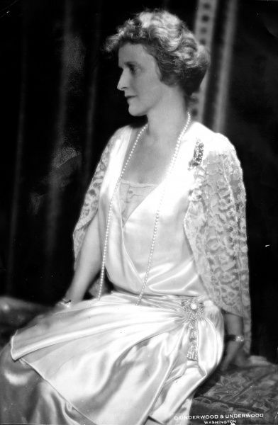 Photographic portrait of Viscountess Nancy Astor (1879-1964), the British politician, pictured c.1928