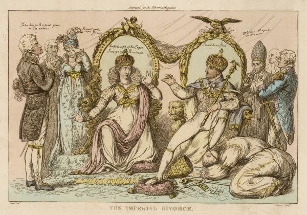 Satire on Napoleon's divorce of Josephine