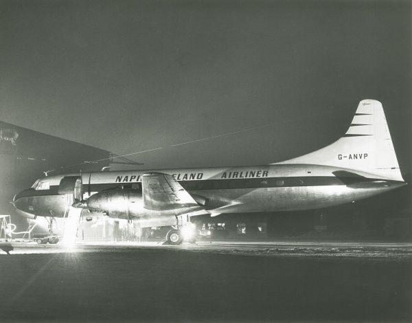 Napier Eland Airliner G ANVP a Convair liner which replaced piston engines with Napier turboprops Date: 1956
