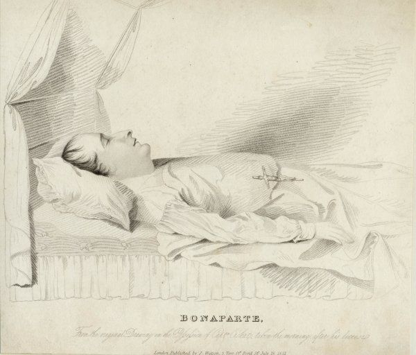 NAPOLEON I/SCENES On his deathbed at St Helena
