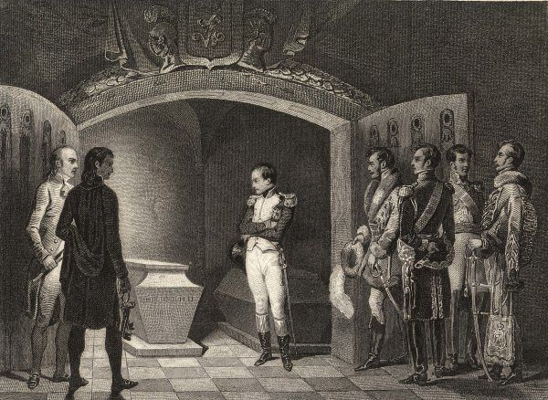 FRIEDRICH II His tomb is visited respectfully by Napoleon, invading Prussia in 1809 or so