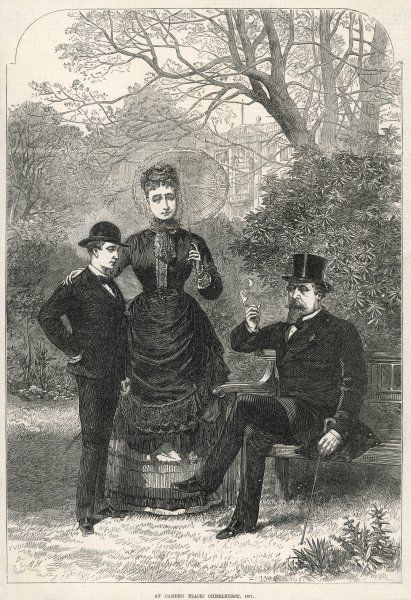 LOUIS NAPOLEON III with his wife and son at Camden Place, Chislehurst in 1871