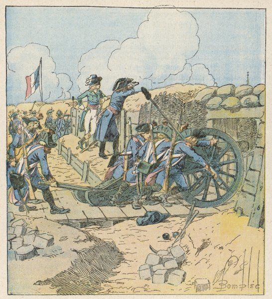 His successful siege of Toulon forces the English to evacuate the town