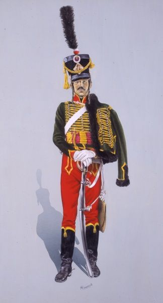 Napoleonic War - Hussar of the French 7th Hussars