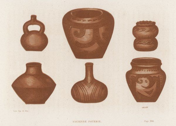 Ceramic objects of the Native American (probably Comanche) peoples in the esert states of western America