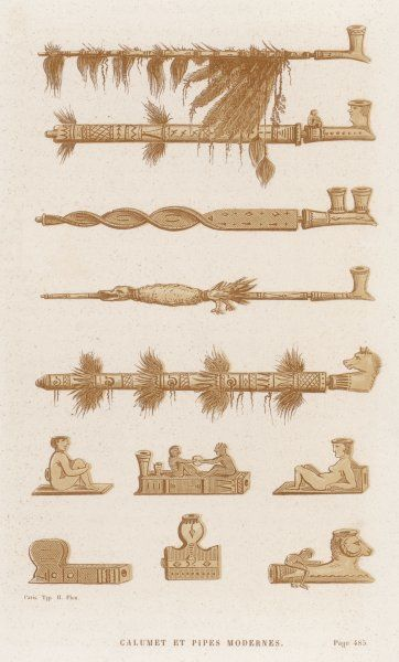 Calumets (= peace-pipes) and pipes of Native American peoples of Arizona, New Mexico and thereabouts