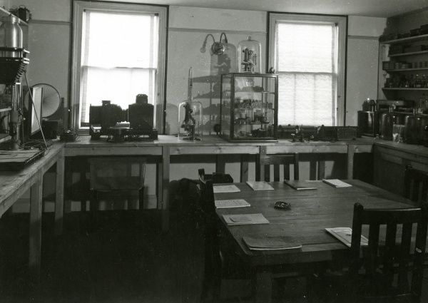 Photograph of the laboratory at the National Laboratory of Psychical Research. HPG/1/2/1 (i)