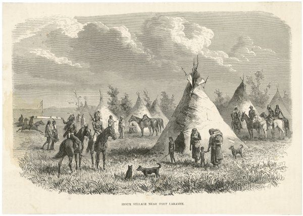 Tepees in a Sioux village near Fort Laramie
