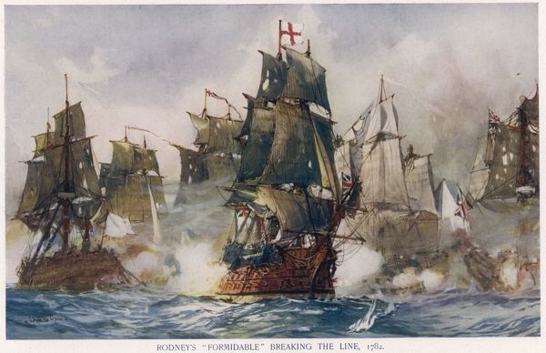 Off St Lucia, West Indies, Rodney attacks de Grasse's fleet and breaks the French line, resulting in a fine victory