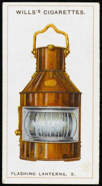 Type of flashing lantern used by the Royal Navy