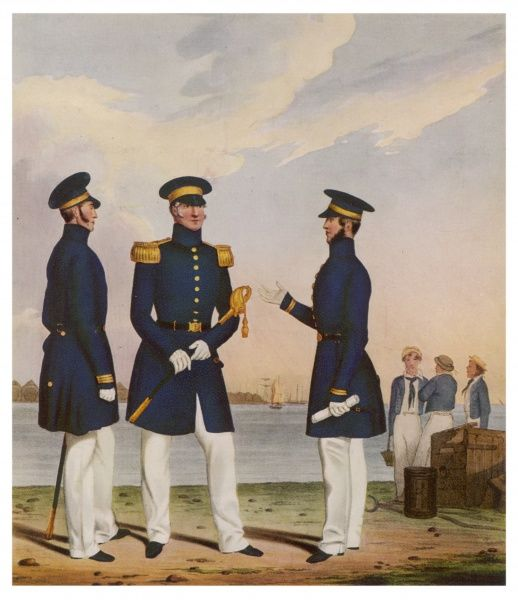 A Captain, a Flag Officer and a Commander of the Royal Navy