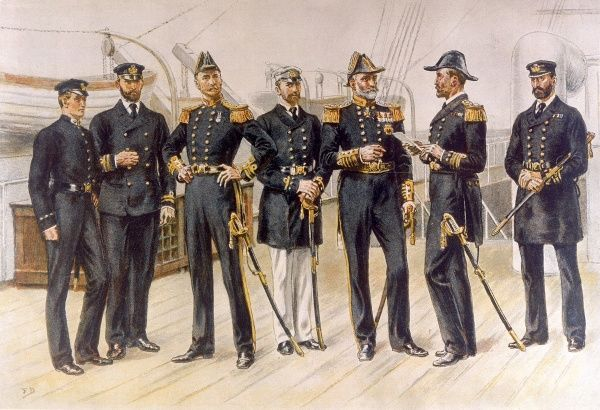 Naval officers Date: 1892