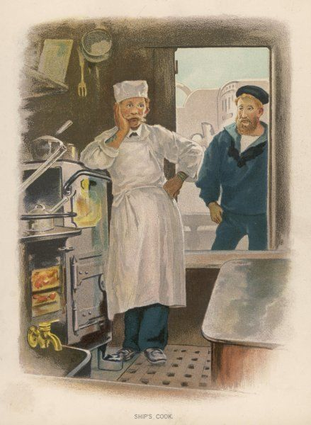 The ship's cook in his galley