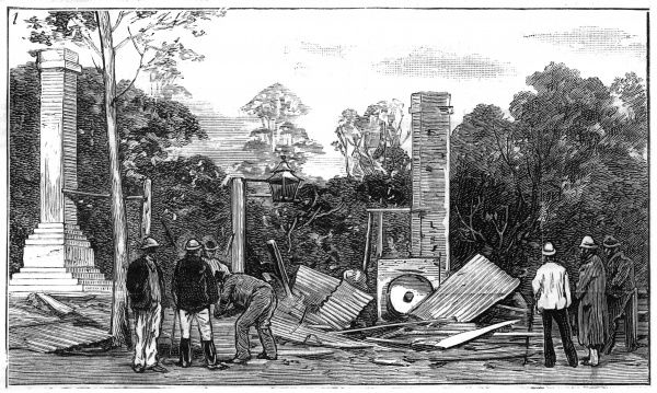 The hotel in Glenrowan after the siege. Ned Kelly and his gang attempted to derail a train carrying a number of police officers