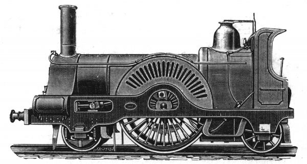 Express engine, built by Neilson, 1862. Date: 1862
