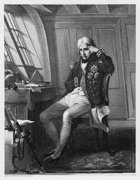 HORATIO, LORD NELSON in his cabin before a battle