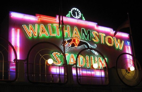 Famous for its greyhound racing track, Walthamstow Stadium opened in 1933. With a distinctive pink and green neon-lit frontage, the stadium has been one of the capital's most recognised landmarks. Falling profits and attendances forced the Chandler Family