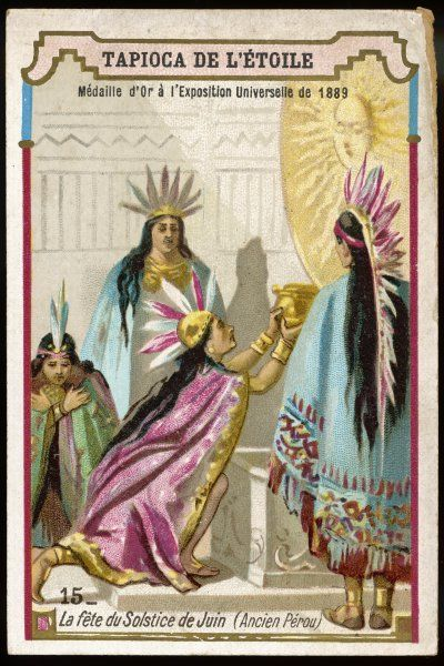 ANCIENT PERU To the Incas, the new year - which commences in June - is a solar festival, the solar disc is honoured as the giver of life and prosperity