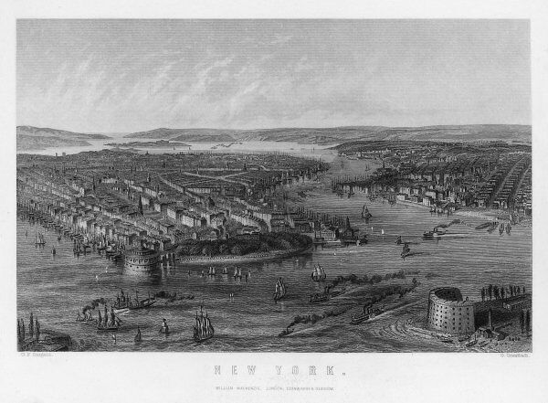 A general view of New York