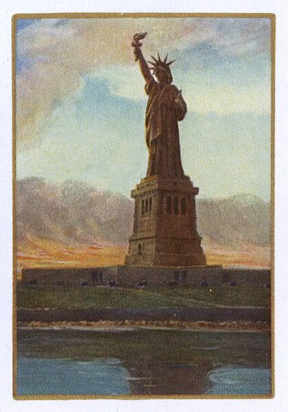 New York City Playing Card Statue Of Liberty Reverse Of Card