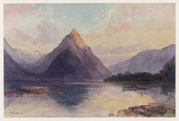 Mitre Peak: a dramatically pointed mountain reflected in the water below