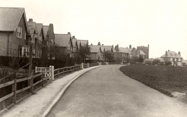 Children's cottage homes at Ponteland, Newcastle upon Tyne. The homes were erected in 1901 by the Newcastle-upon-Tyne Union to accommodate pauper children away from the workhouse. Each 'cottage' housed 30-40 children. A superintendent's house