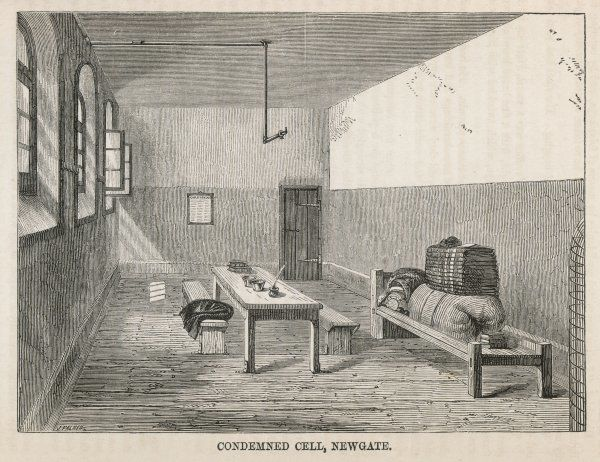 Originally the principal west gate of London, Newgate was the target of Elizabeth Fry's efforts to improve prison conditions. The condemned cell waiting for an occupant