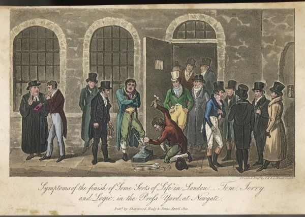 Originally the principal west gate of London, Newgate was the target of Elizabeth Fry's efforts to improve prison conditions. A gathering in the Newgate Press Yard