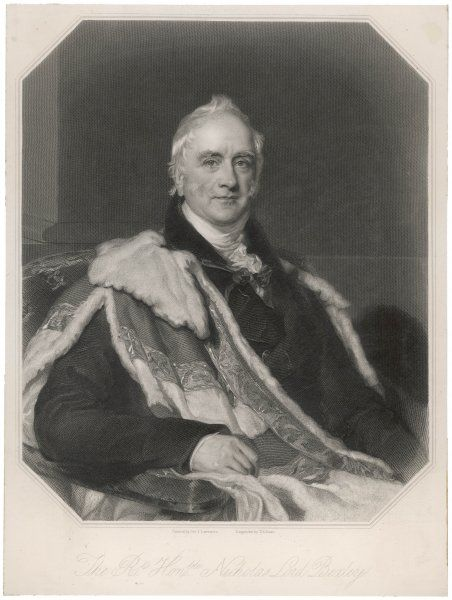 NICHOLAS VANSITTART, first baron BEXLEY English Statesman, Chancellor of the Exchequer