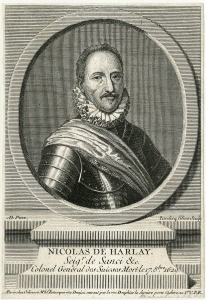 NICOLAS DE HARLAY, seigneur de Sanci French military, colonel- general des Suisses