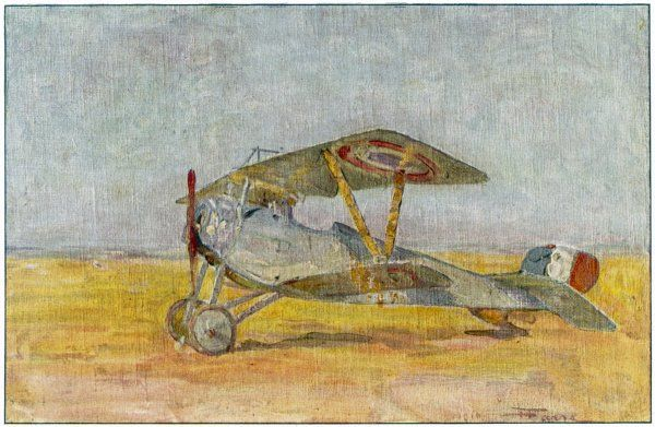 The Nieuport 'Bebe' (Baby) French fighter biplane