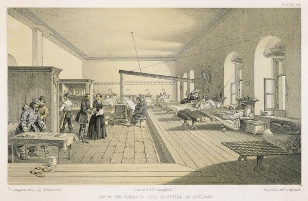FLORENCE NIGHTINGALE Hospital ward at Scutari, on a day when casualties were unusually light  1820 - 1910