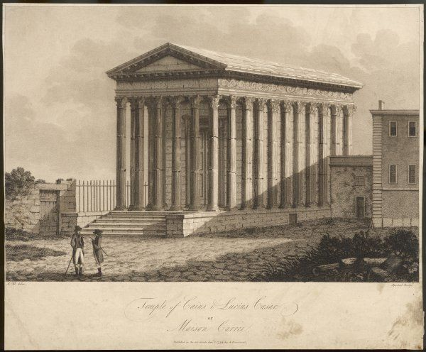 The MAISON CARREE, formerly a Roman temple, used as a storehouse and much else until it became the tourist site it is today