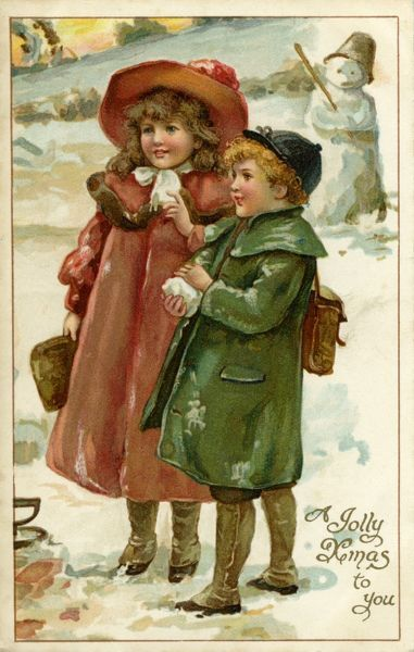 Nister. Children in snow. Harriet Bennett. c.1902.jpg