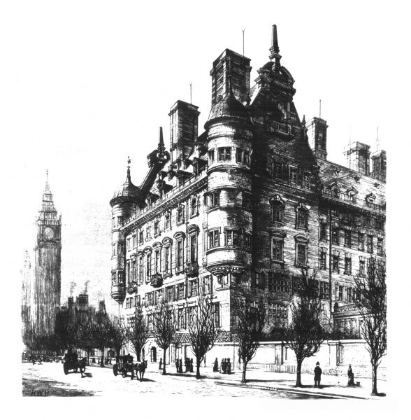 The former headquarters of the Metropolitan Police, Scotland Yard designed by Norman Shaw
