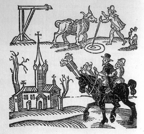The witches of North Berwick make cattle sick, set fire to churches and generally make themselves unpopular