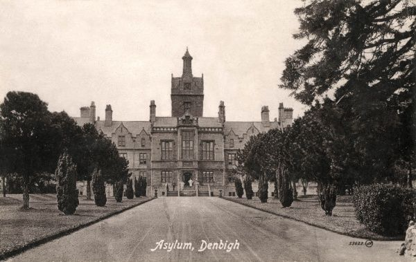 Administration block of the North Wales Lunatic Asylum at Denbigh, opened in 1848 and designed by Thomas Fulljames