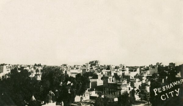 North West Frontier Province - Peshawar (now in Pakistan) - view over the rooftops