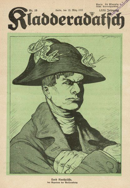 ALFRED HARMSWORTH, lord NORTHCLIFFE newspaper proprietor depicted as 'the Napoleon of Slander&#39