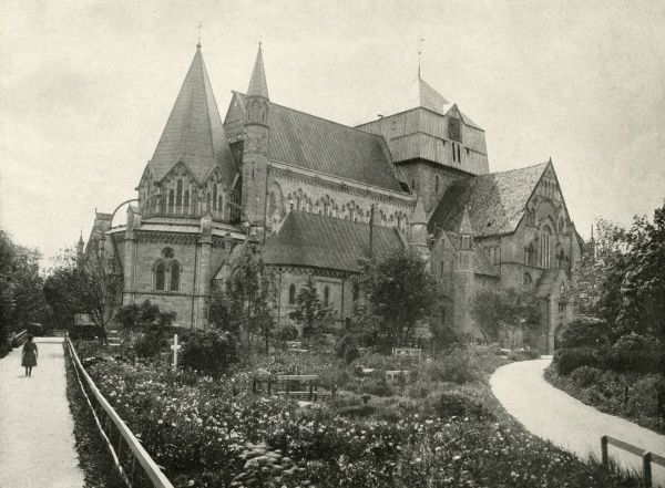 (formerly Trondhjem) The cathedral Date: late 19th century